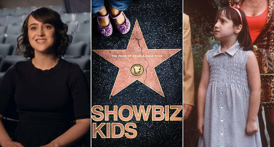 Mara Wilson, who shot to fame as a child star in Hollywood, talks candidly about her experiences in Alex Winter's Showbiz Kids. (HBO/Sky)
