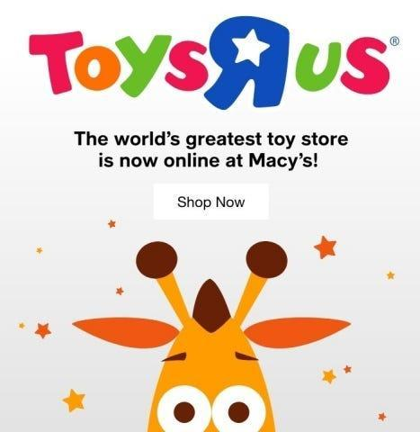 Toys R Us is making a comeback with Macy's.