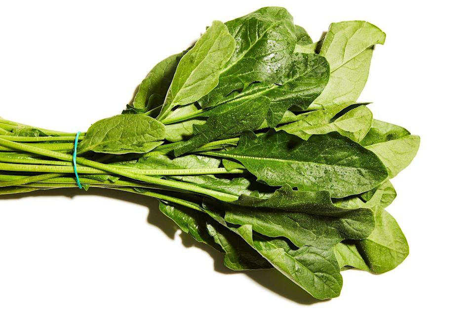 <p>There's a reason Popeye ate it tinned. Spinach is a source of oxalic acid, which binds to minerals such as calcium, meaning less of the goodness in your veg is absorbed. Cooking reduces levels of this compound, as well as making its beta-carotene up to three times as easy to absorb. It tastes nothingy in salads, anyway. Sauté.</p>