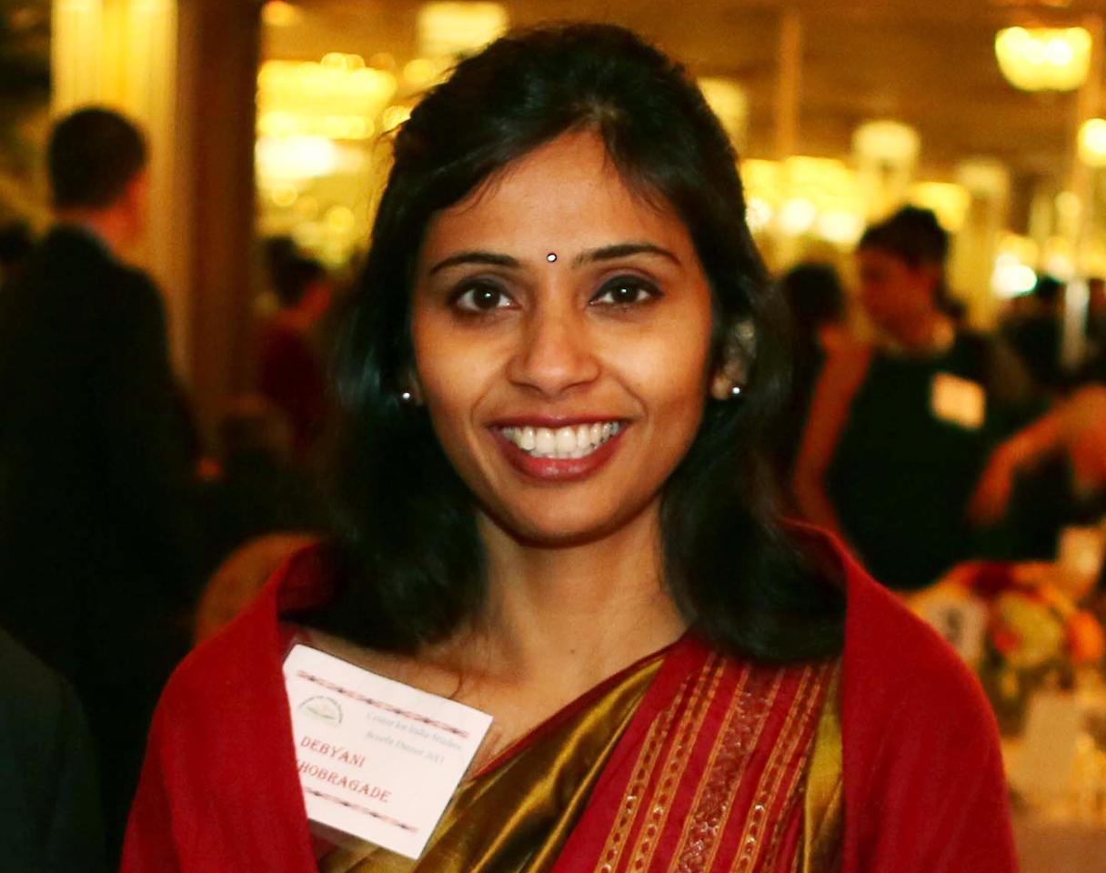 Devyani Khobragade, India's deputy consul general, attends the India Studies Stony Brook University fundraiser event in Long Island, New York, December 8, 2013. India urged the United States to withdraw a visa fraud case against Khobragade, one of its diplomats, in New York on Dcember 18, 2013 suggesting U.S. Secretary of State John Kerry's expression of regret over her treatment while in custody was not enough. Picture taken December 8, 2013. REUTERS/Mohammed Jaffer/SnapsIndia (UNITED STATES - Tags: POLITICS SOCIETY CRIME LAW) NO SALES. NO ARCHIVES. FOR EDITORIAL USE ONLY. NOT FOR SALE FOR MARKETING OR ADVERTISING CAMPAIGNS