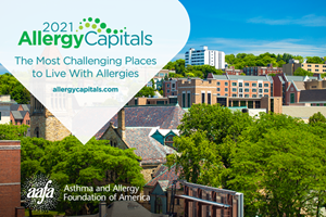 To see the complete,100-city list go to allergycapitals.com. The report lists overall annual rankings and breaks down a seasonal ranking for spring and fall.