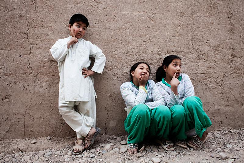 Mehran (right) with her sisters.