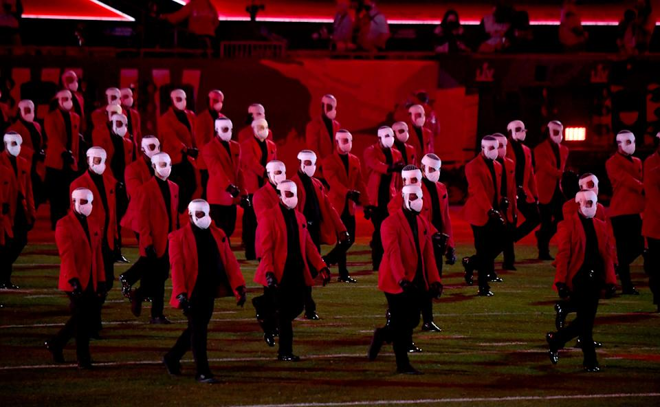The Weeknd's dancers at Super Bowl 2021