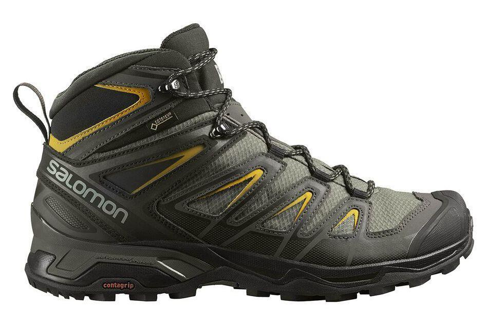 """<p><strong>Salomon</strong></p><p>amazon.com</p><p><strong>$164.00</strong></p><p><a href=""""https://www.amazon.com/dp/B072PQ87ZV?tag=syn-yahoo-20&ascsubtag=%5Bartid%7C2141.g.28511743%5Bsrc%7Cyahoo-us"""" rel=""""nofollow noopener"""" target=""""_blank"""" data-ylk=""""slk:Shop Now"""" class=""""link rapid-noclick-resp"""">Shop Now</a></p><p>These <a href=""""https://www.prevention.com/fitness/workout-clothes-gear/g19791835/best-hiking-shoes-for-women/"""" rel=""""nofollow noopener"""" target=""""_blank"""" data-ylk=""""slk:hiking boots"""" class=""""link rapid-noclick-resp"""">hiking boots</a> have a high-tech charm to them—they'll look great on the trail and on city streets alike. Dr. Tulpule especially appreciates the fact that they're waterproof, thanks to a trusty GORE-TEX outer, <strong>meaning they'll survive the slush in your future.</strong> And on top of all that, their rugged outsoles are designed to make tough descents as safe as possible.</p>"""