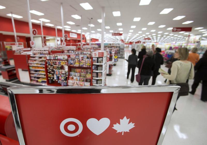 File photo of members of the media touring Target Canada's pilot store in Guelph, Ontario