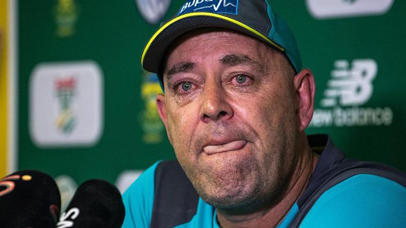 Lehmann struggled to contain his emotions. Pic: Getty