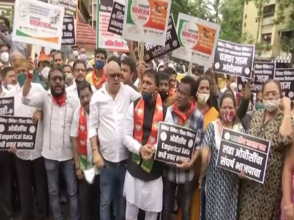 BJP's protest for OBC's political reservations (Photo/ANI)
