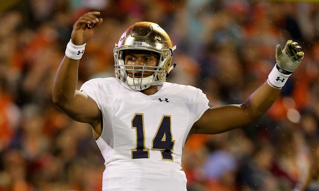Scouts described NFL Draft prospect DeShone Kizer as raw. Now it looks like the former Notre Dame quarterback will be a Rookie of the Year contender.