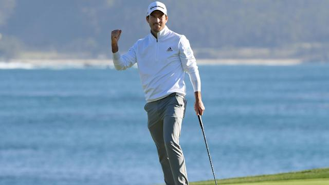 Canadian Nick Taylor claimed his second PGA Tour win with victory at the Pebble Beach Pro-Am.