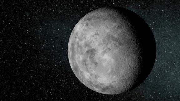 An artist's conception of the tiny alien planet Kepler-37b, which is slightly larger than Earth's moon and orbits its host star every 13 days. It likely has a surface temperature of in excess of 400 deg C (700 deg F). Image released Feb. 20, 20