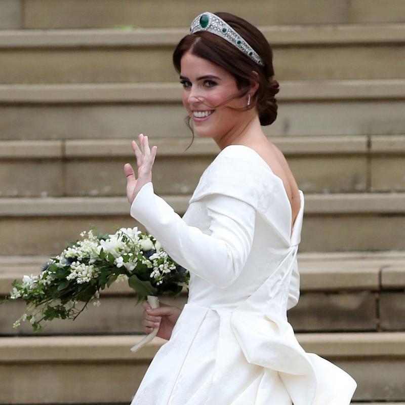 Princess Eugenie Steals A Page From Meghan Markles Royal Wedding