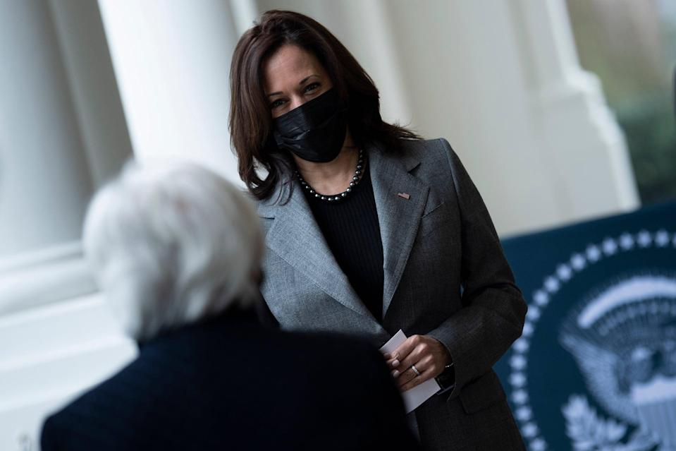 Kamala Harris Wears Dolce & Gabbana on Jan. 26, 2021