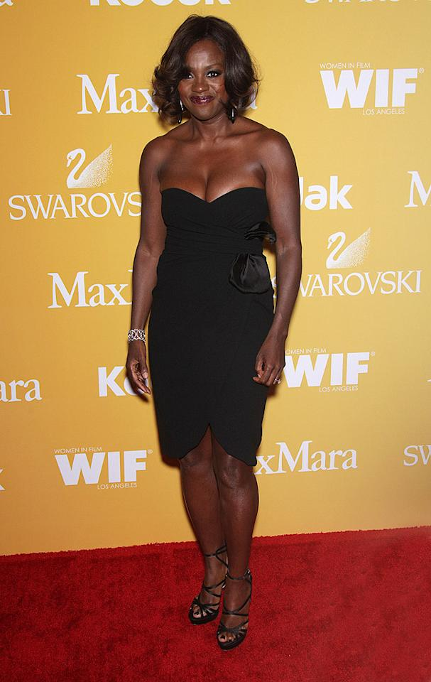 "You can never go wrong with a Max Mara LBD, and ""Help"" star Viola Davis certainly didn't when she rocked this strapless satin dress -- and strappy Jimmy Choo sandals -- at the 2012 Crystal & Lucy Awards in Beverly Hills. Va-va-voom! (6/12/2012)"
