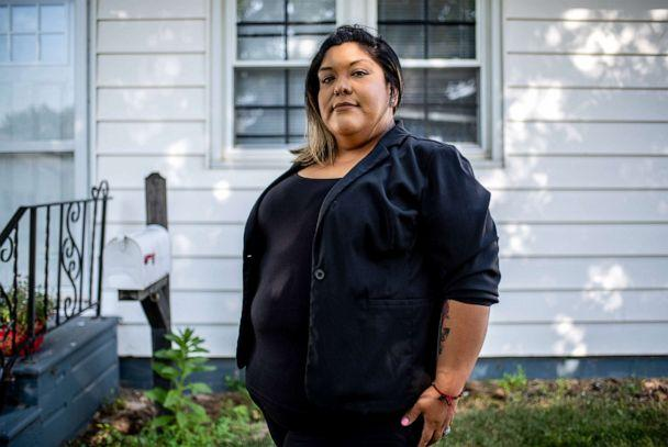 PHOTO: Maria Gonzalez poses for a photo at her home in Marshalltown Iowa, Aug. 7, 2019. (Sergio Flores for ABC News)