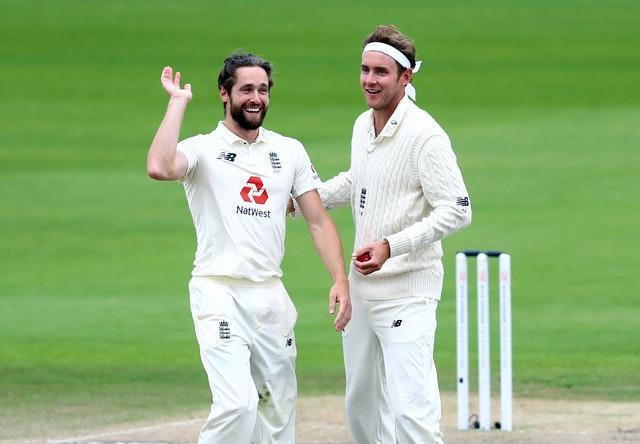 Chris Woakes, left, and Stuart Broad have both stated recently the players would have no problem taking a pay cut (Michael Steele/PA)