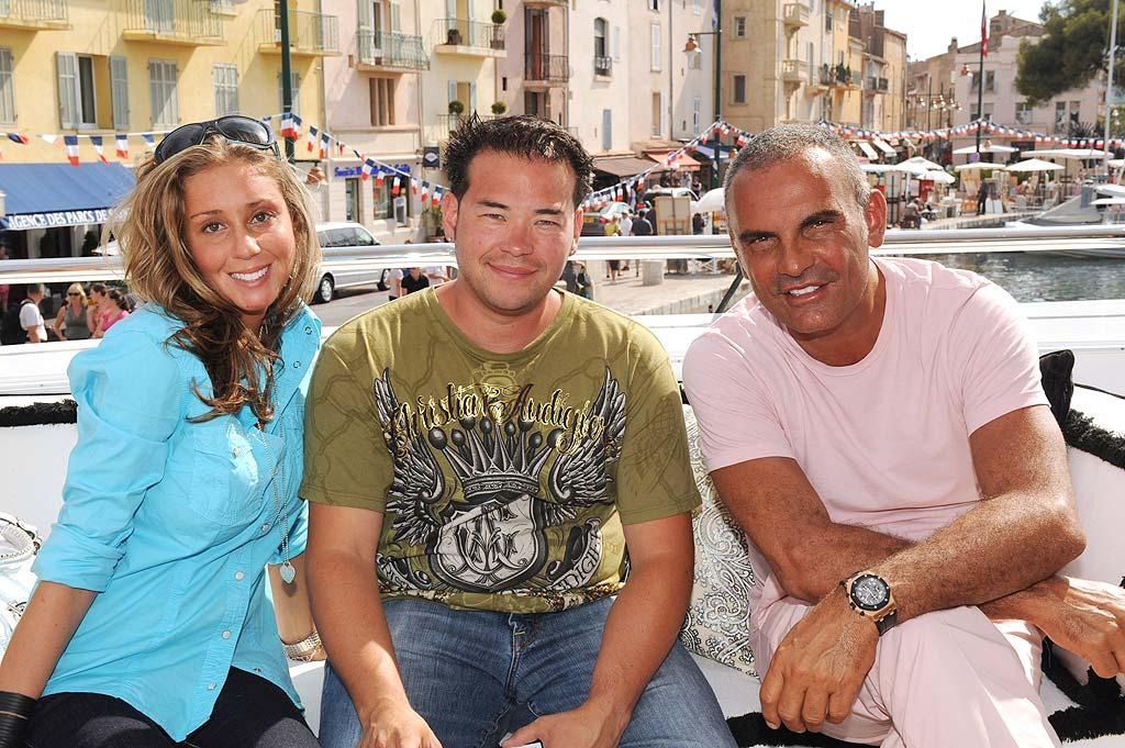 "Jon Gosselin has no trouble telling ex-wife Kate and new girlfriend Hailey Glassman apart. Hailey's the one who went to France with him and visited with designer Christian Audigier. <a href=""http://www.x17online.com"" target=""new"">X17 Online</a> - July 11, 2009"
