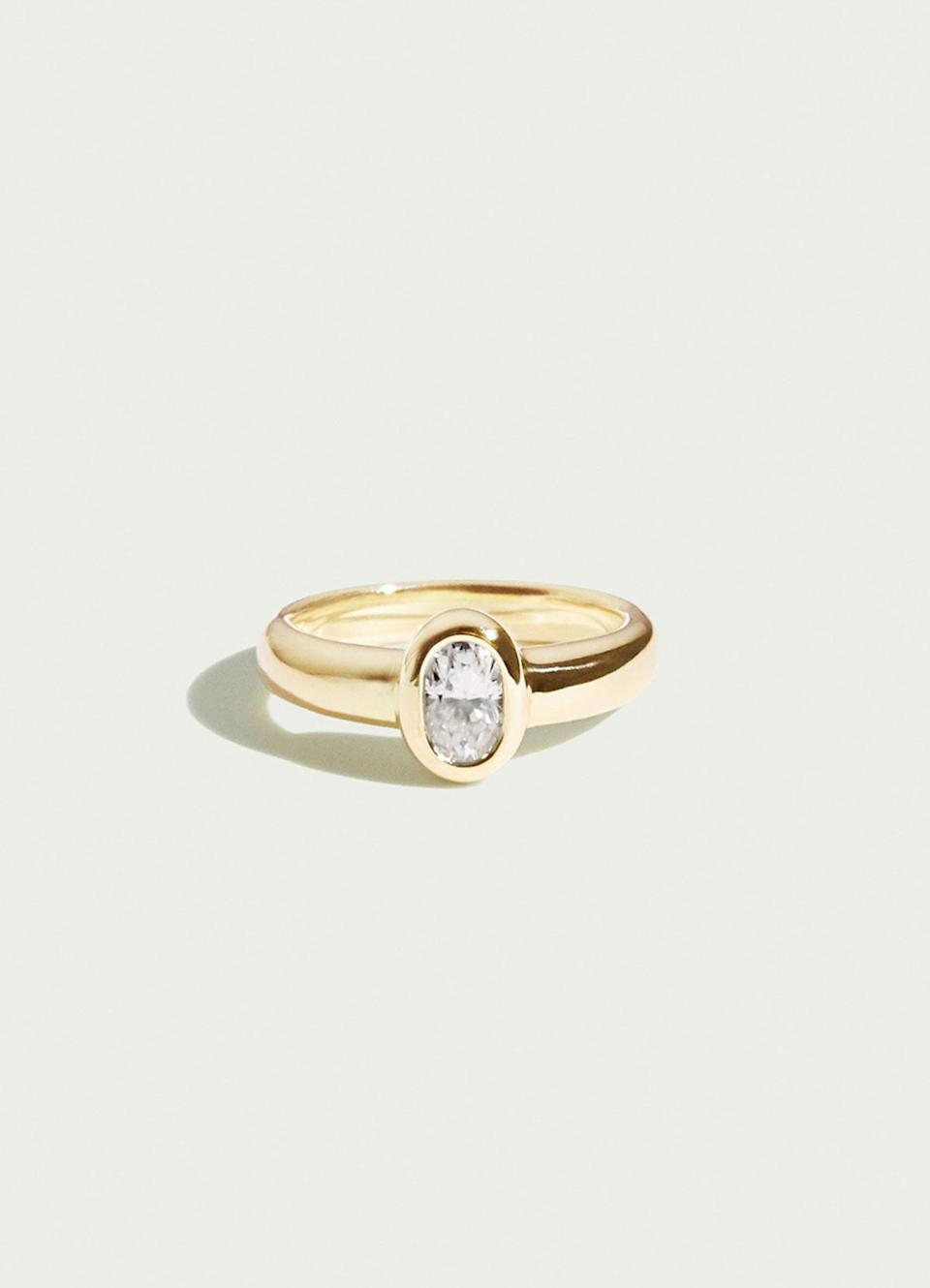 """Nicholson notes that over 90 percent of purchases on Ceremony are for yellow gold, which she says surprises many of her customers, who assume white gold or platinum metals are the most popular. $3800, Ceremony. <a href=""""https://ceremony.us/products/anise"""" rel=""""nofollow noopener"""" target=""""_blank"""" data-ylk=""""slk:Get it now!"""" class=""""link rapid-noclick-resp"""">Get it now!</a>"""