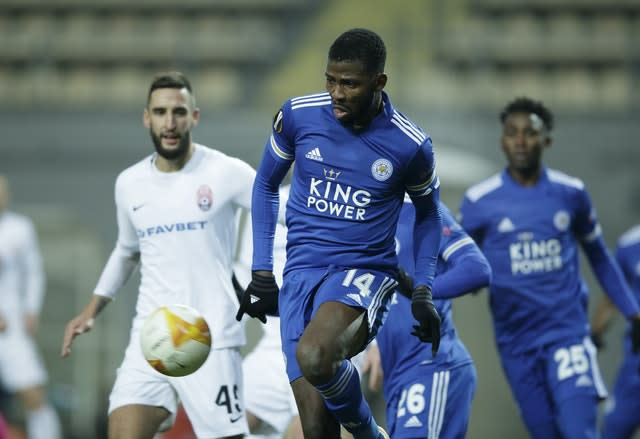 Kelechi Iheanacho featured in a much-changed side