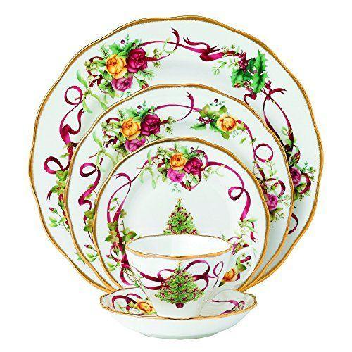 """<p><strong>Royal Albert</strong></p><p>amazon.com</p><p><a href=""""https://www.amazon.com/dp/B00DTTOD4S?tag=syn-yahoo-20&ascsubtag=%5Bartid%7C10050.g.33633781%5Bsrc%7Cyahoo-us"""" rel=""""nofollow noopener"""" target=""""_blank"""" data-ylk=""""slk:Shop Now"""" class=""""link rapid-noclick-resp"""">Shop Now</a></p><p>Introduced in 2012, you can choose to add just a salad plate into your existing Old Country Roses set, or start fresh with the entire ensemble.</p>"""