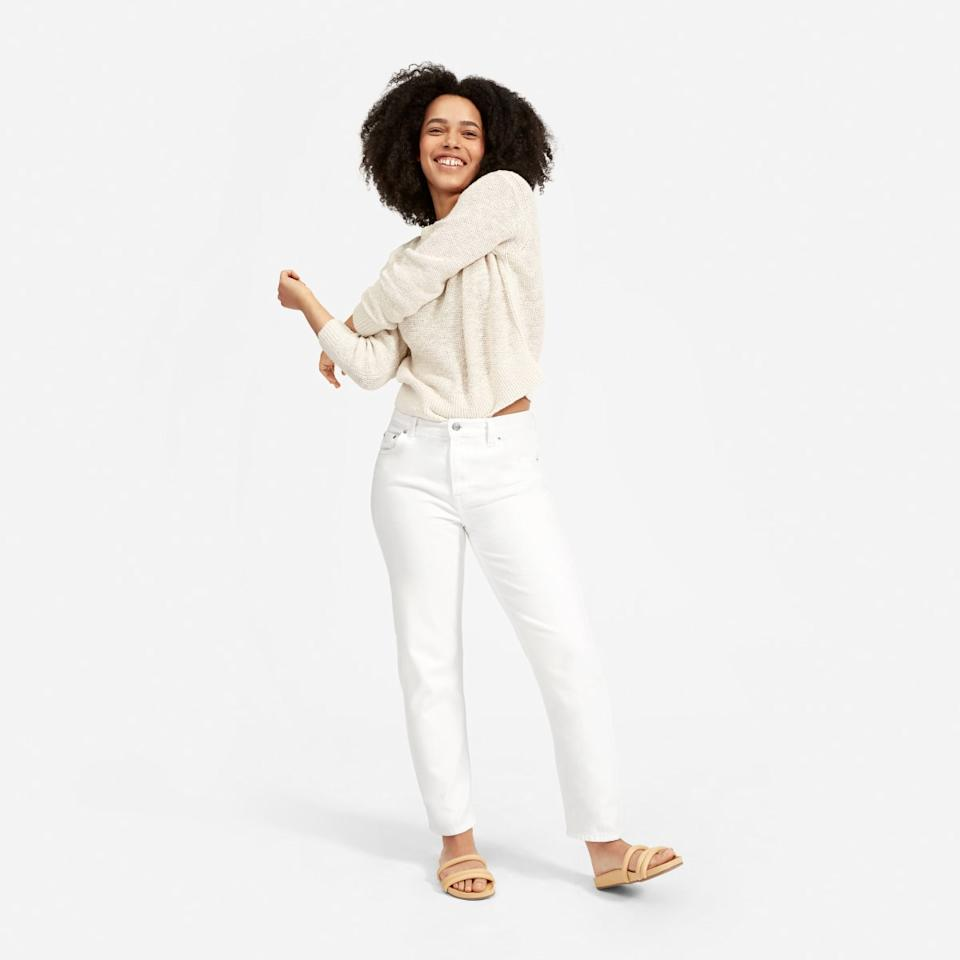The Super-Soft Relaxed Jean in Bone. Image via Everlane.