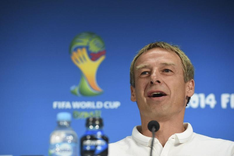 US coach Jurgen Klinsmann speaks during a press conference at the Arena Amazonia, in Manaus, Amazonas state, Brazil, on June 21, 2014