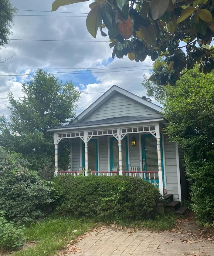 In the 1970s, the Wheeler Hill neighborhood was bulldozed as part of a land redevelopment project. This shotgun house is one of the only original structures that survived.