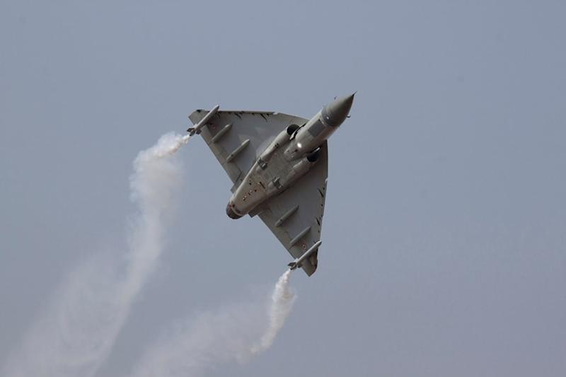 The speed of Tejas was 270 knots when all the internal tanks and drop tanks were refuelled.