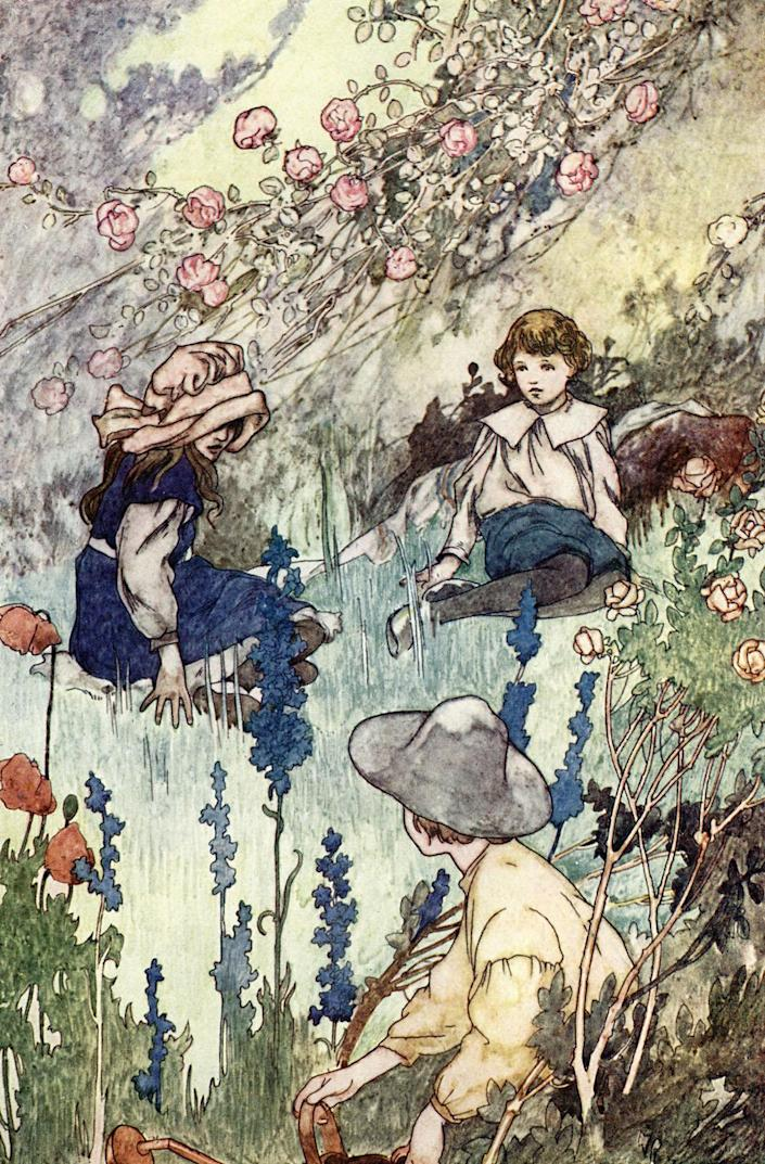 The Secret Garden by Frances Hodgson Burnett. Illustration by Charles Robinson. Published by Heineman. English author, 24 November 1849 - 29 October 1924 (Photo by Culture Club/Getty Images)