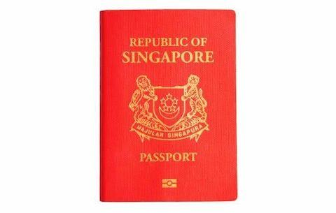 Singapore's passport book