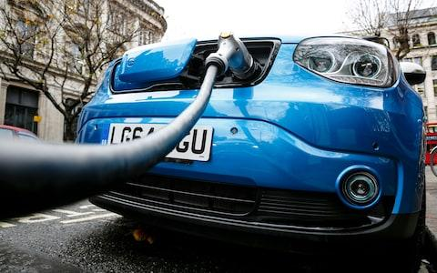 Go Ultra Low Kia Soul EV on charge on a London street - Credit: Miles Willis/Getty Images Europe