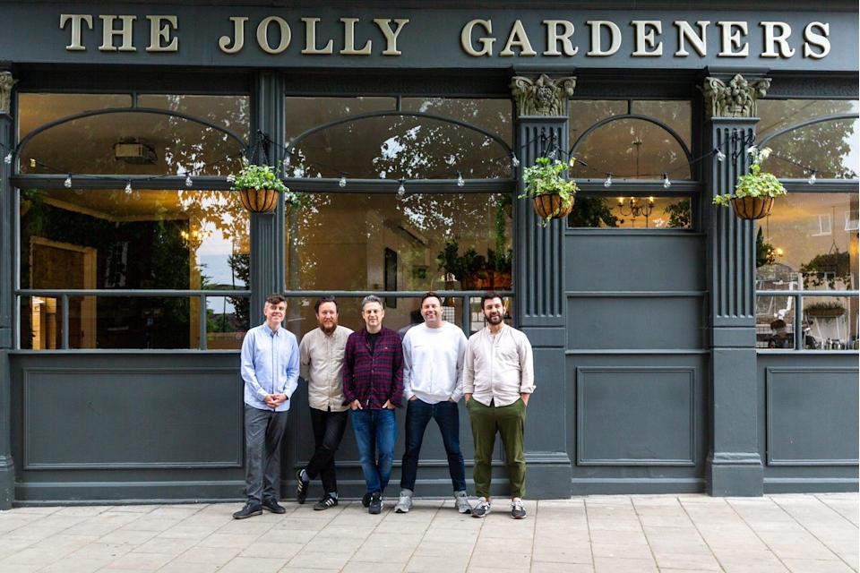 Local folk: the five friends behind the Jolly Gardeners in Vauxhall (Stephen N Roberts)