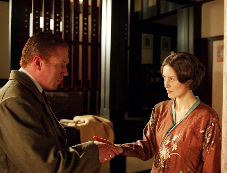Damien Lewis and Gina McKee play miserable married couple Soames and IreneITV