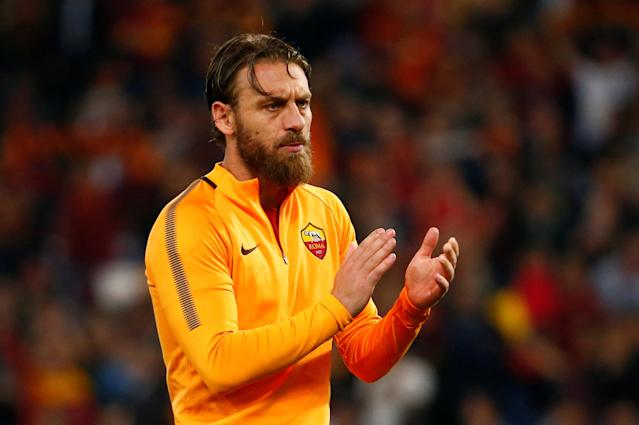 Soccer Football - Champions League Semi Final Second Leg - AS Roma v Liverpool - Stadio Olimpico, Rome, Italy - May 2, 2018 Roma's Daniele De Rossi looks dejected after the match REUTERS/Tony Gentile