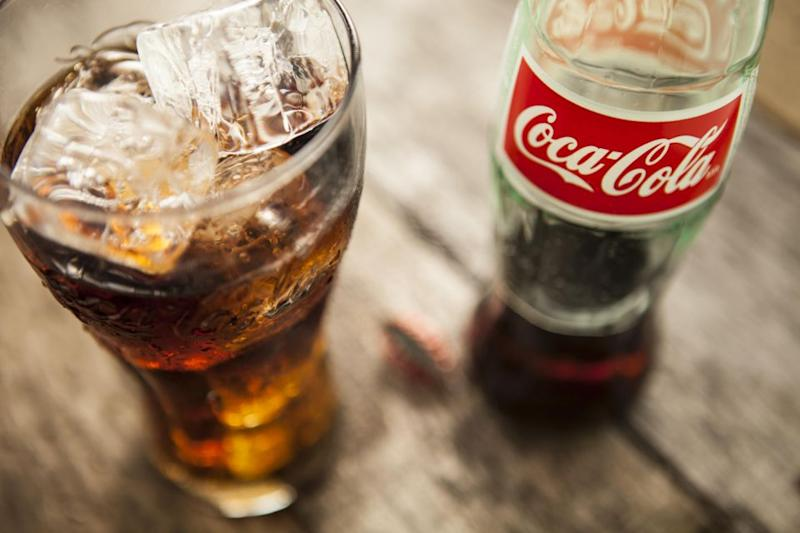 She used to consume 1.5kgs of sugar a week in Coke. Photo: Caters News