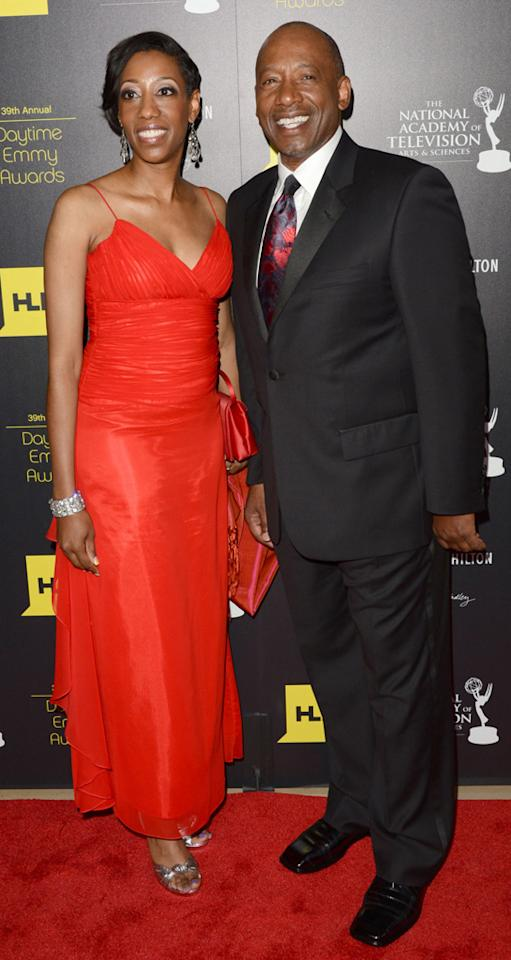 Brad Sanders and guest arrives at The 39th Annual Daytime Emmy Awards held at The Beverly Hilton Hotel on June 23, 2012 in Beverly Hills, California.