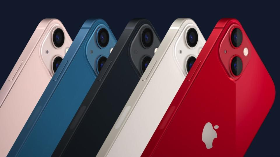 All of Apple's new color options for the iPhone 13. - Credit: Apple