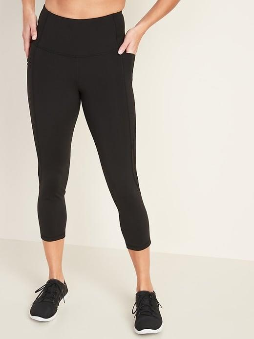 <p>Get sweaty in these <span>Old Navy High-Waisted Elevate Side-Pocket Mesh-Trim Compression Crops</span> ($24, originally $35).</p>