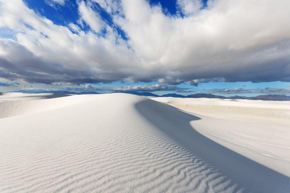 "<p>Known for its rare <a href=""https://www.newmexico.org/places-to-visit/regions/southeast/white-sands-national-monument/"" rel=""nofollow noopener"" target=""_blank"" data-ylk=""slk:white gypsum sand dunes"" class=""link rapid-noclick-resp"">white gypsum sand dunes</a>, this place is perfect if you're looking to be off world. </p>"