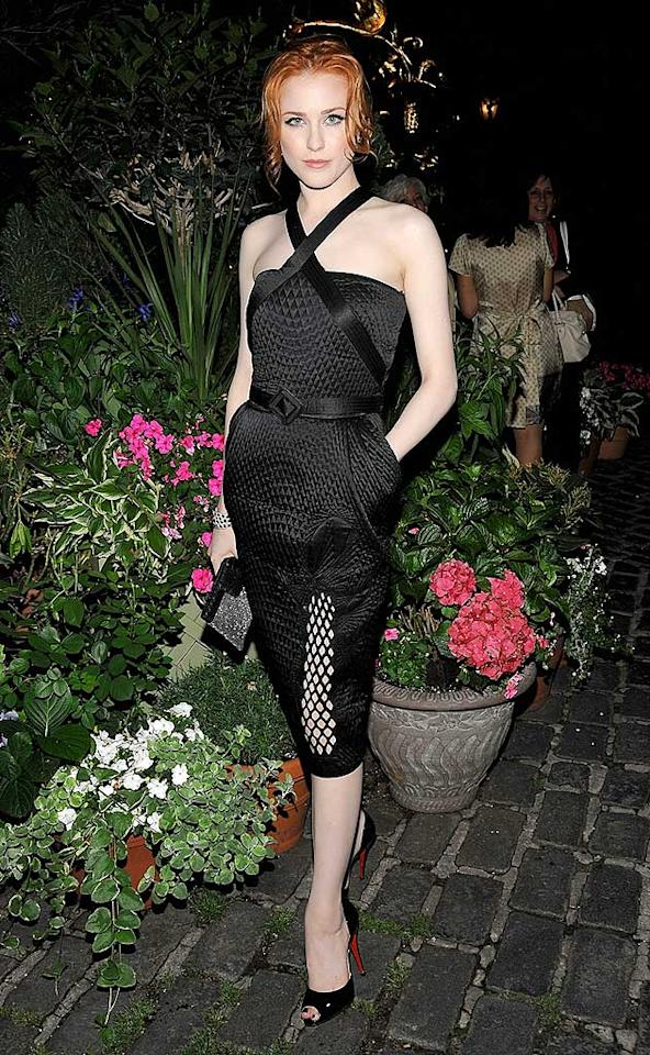 """Evan Rachel Wood makes her second consecutive appearance in """"2 Hot 2 Handle"""" thanks to the sexy yet sophisticated Jean Paul Gaultier halter dress and black peep toes she wore to the New York screening of """"Whatever Works."""" Jamie McCarthy/<a href=""""http://www.wireimage.com"""" target=""""new"""">WireImage.com</a> - June 10, 2009"""