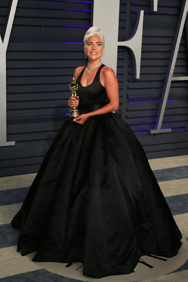 <p>Wearing Brandon Maxwell. <em>[Photo: Getty]</em> </p>