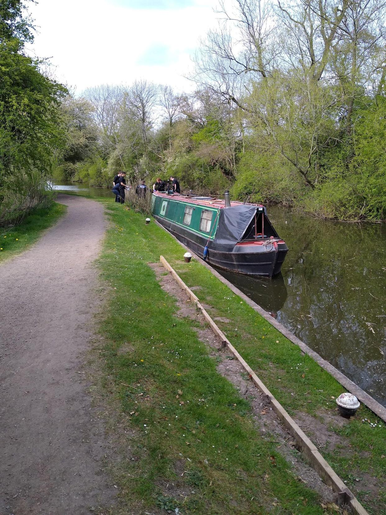 The man was arrested when he stepped off to negotiate a lock in Glen Parva. (SWNS)