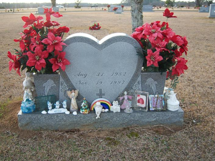"""<span class=""""caption"""">Holiday gifts in front of a headstone.</span> <span class=""""attribution""""><span class=""""source"""">Author provided</span></span>"""