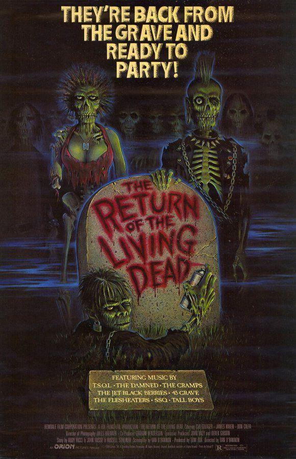 """<p>Ever wondered where the concept of zombies eating brains came from? This notable '80s film is known for introducing the first brain-eating zombies, offering an original punk twist on the classic genre as a group of people in Louisville, KY face off with the undead. </p><p><a class=""""link rapid-noclick-resp"""" href=""""https://www.amazon.com/Return-Living-Dead-Clu-Gulager/dp/B00EWZGM8I?tag=syn-yahoo-20&ascsubtag=%5Bartid%7C10055.g.33546030%5Bsrc%7Cyahoo-us"""" rel=""""nofollow noopener"""" target=""""_blank"""" data-ylk=""""slk:WATCH ON AMAZON"""">WATCH ON AMAZON</a></p><p><strong>RELATED: </strong><a href=""""https://www.goodhousekeeping.com/life/entertainment/g29350082/obscure-80s-movies/"""" rel=""""nofollow noopener"""" target=""""_blank"""" data-ylk=""""slk:50 Movies From the '80s That You Totally Forgot About"""" class=""""link rapid-noclick-resp"""">50 Movies From the '80s That You Totally Forgot About</a></p>"""
