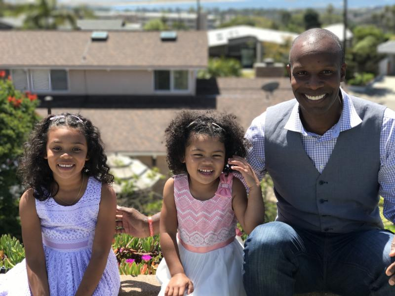 "Richards, who writes and shares about parenthood as <a href=""https://www.facebook.com/daddydoinwork"" target=""_blank"">DaddyDoinWork</a>, is the father of a 6-year-old and a 4-year-old daughter. (Doyin Richards)"