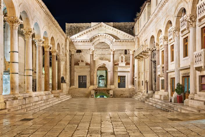 The ancient Roman Diocletian's Palace at night (Getty Images)