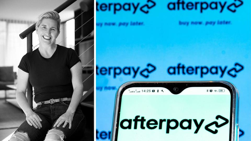 Lee Hatton discusses Afterpay's next feature. Images: Supplied, Getty