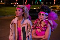 """<p>If you like '80s fashions and nuanced storytelling, <em>GLOW</em>—a series about the women's wrestling circuit—is absolutely for you. Sadly, the show was canceled in 2020.</p> <p><a href=""""https://www.netflix.com/title/80114988"""" rel=""""nofollow noopener"""" target=""""_blank"""" data-ylk=""""slk:Available to stream on Netflix"""" class=""""link rapid-noclick-resp""""><em>Available to stream on Netflix</em></a></p>"""