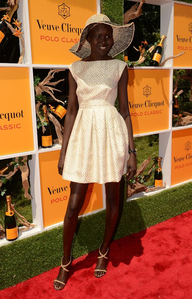 JERSEY CITY, NJ - JUNE 02:  Model Alek Wek attends the fifth annual Veuve Clicquot Polo Classic on June 2, 2012 in Jersey City.  (Photo by Andrew H. Walker/Getty Images for Veuve Clicquot Polo Classic)