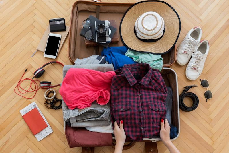No more rummaging through luggage. Stay organized and pack everything you want with Amazon's best-selling packing cubes. (Photo: Getty Images)