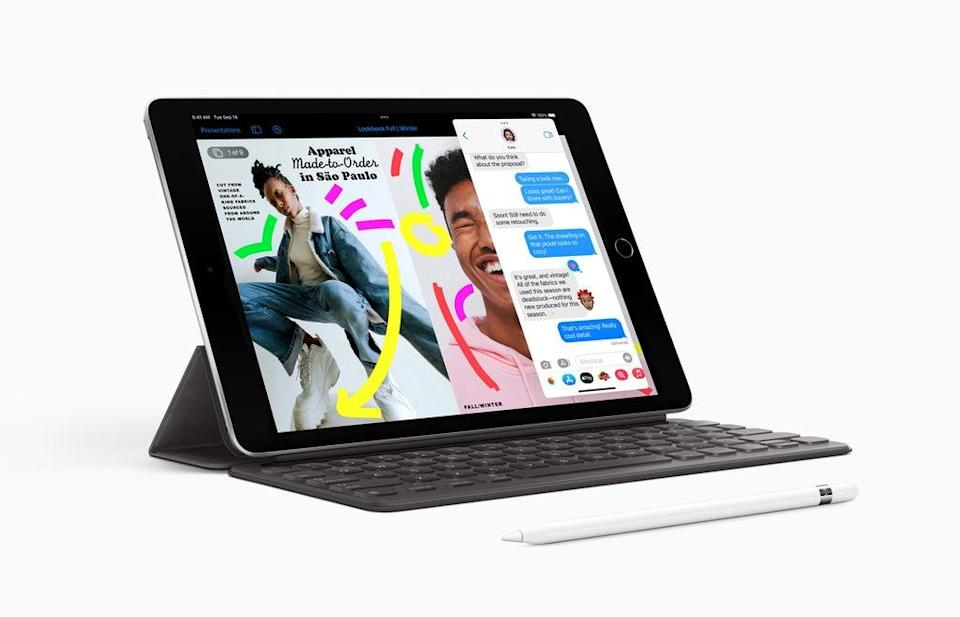 The new iPad has improved performance and cameras. (Apple)